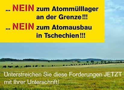NEIN zum Atommülllager an der Grenze!!!NEIN zum Atomausbau in Tschechien!!!
